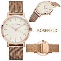 Rosefield Női Üzleti Karóra - Rosegold - Fehér
