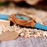 Bobo Bird Valódi Fa Női Karóra - Kék számlap és szíj
