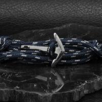 BRAVE - CAPTAIN – Nemesacél Horgony Karkötő – Kék