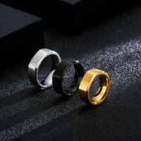 Fekete Acél Férfi Gyűrű
