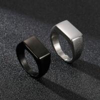 Fekete Acél Férfi Pecsétgyűrű
