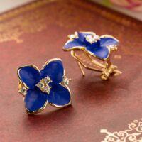 Virág Fülbevaló Hölgyeknek - Kék - Arany