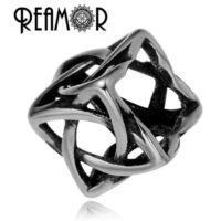 REAMOR - Fekete Bőr Charm Karkötő – Kék Murano Üveg Gyöngy