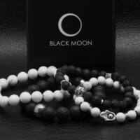 Black Moon - Fehér Howlit Ásvány karkötő