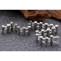 BLACK WOLF - Rozsdamentes Acél Töltény Karkötő