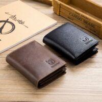 BULL CAPTAIN - fekete bőr férfi pénztárca - álló - RFID védelemmel