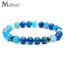 Mcllroy - Féldrágakő Kék Achát Karkötő