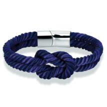 Elegáns Textil Karkötő - Kék
