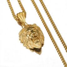 Mcllroy - Férfi Nyaklánc - Nemesacél Oroszlán Medál - Arany