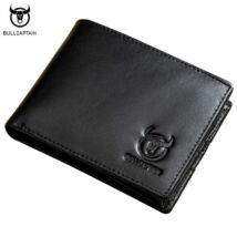 BULL CAPTAIN - fekete bőr férfi pénztárca - fekvő - RFID védelemmel