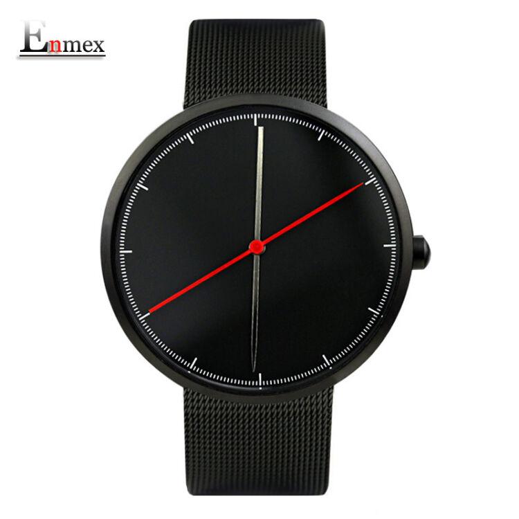 Enmex Kreatív Férfi karóra - Fekete Szíj - Fekete Számlap