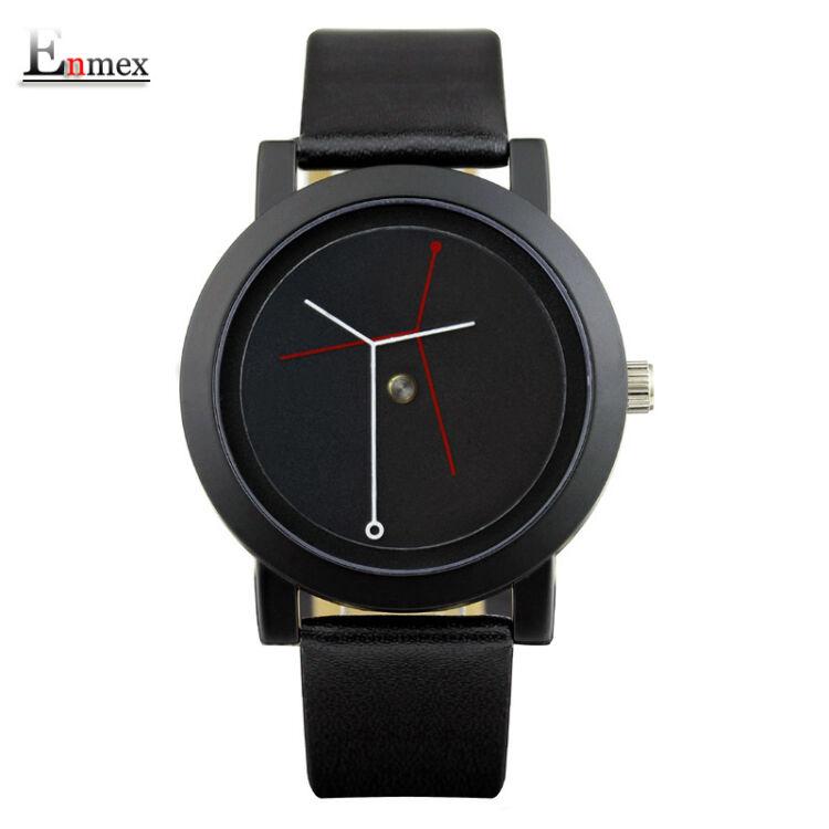 Enmex Unisex Karóra - Egyedi Design - Fekete