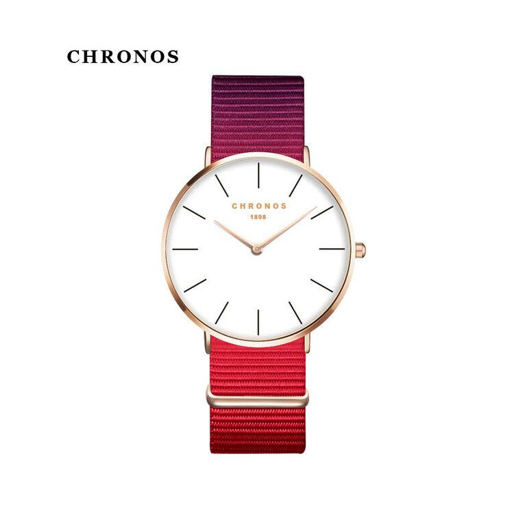 Chronos Rózsaszín Szövetszíjas Karóra - Rosegold Tok