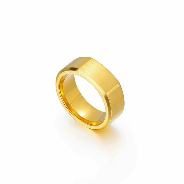 Acél Férfi Gyűrű - Arany