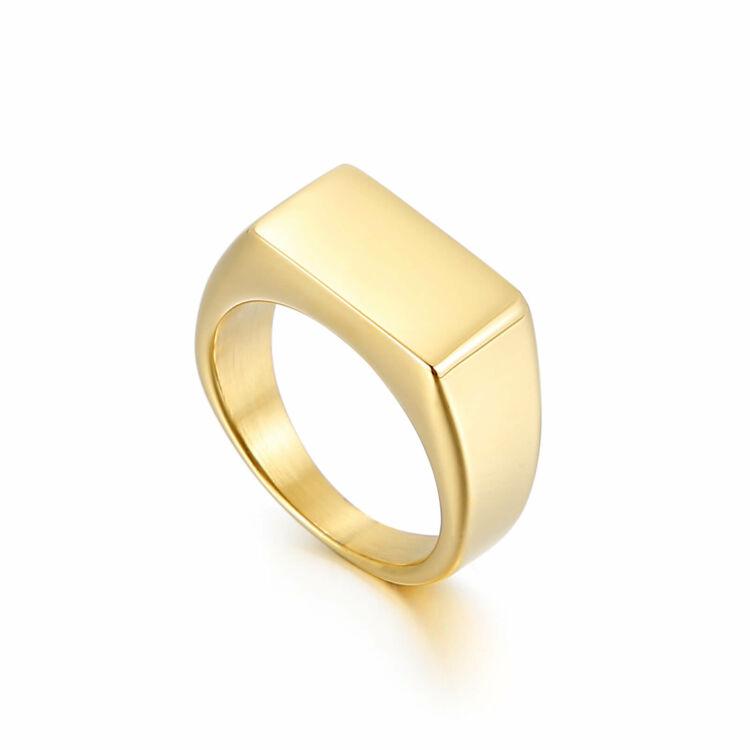 Acél Férfi Pecsétgyűrű - Arany