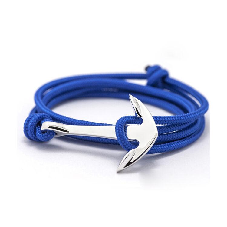Kék Horgony Karkötő Ezüst Színű Dísszel