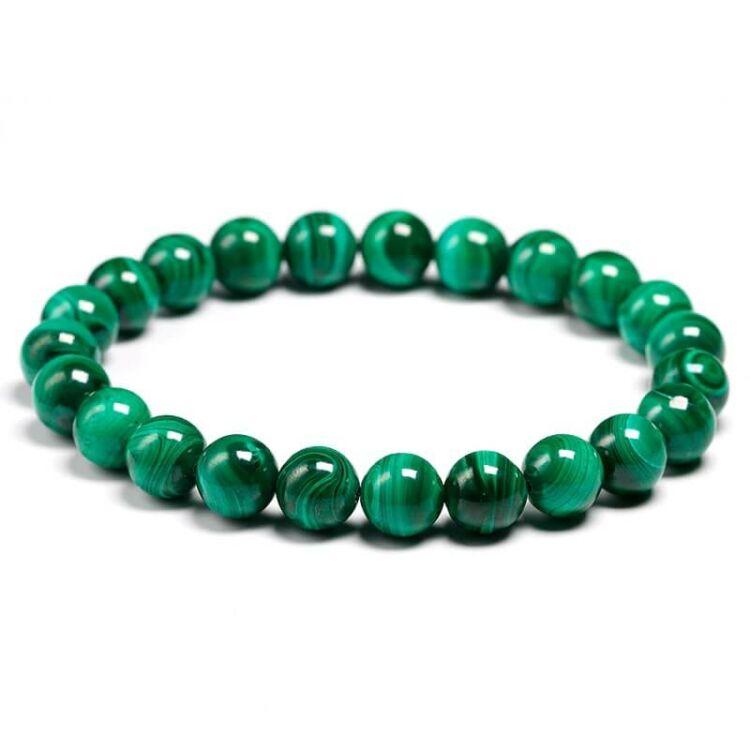 Zöld Malachit Ásvány Karkötő