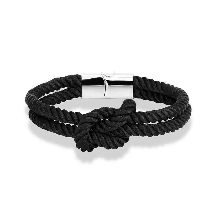 Elegáns Textil Karkötő - Fekete