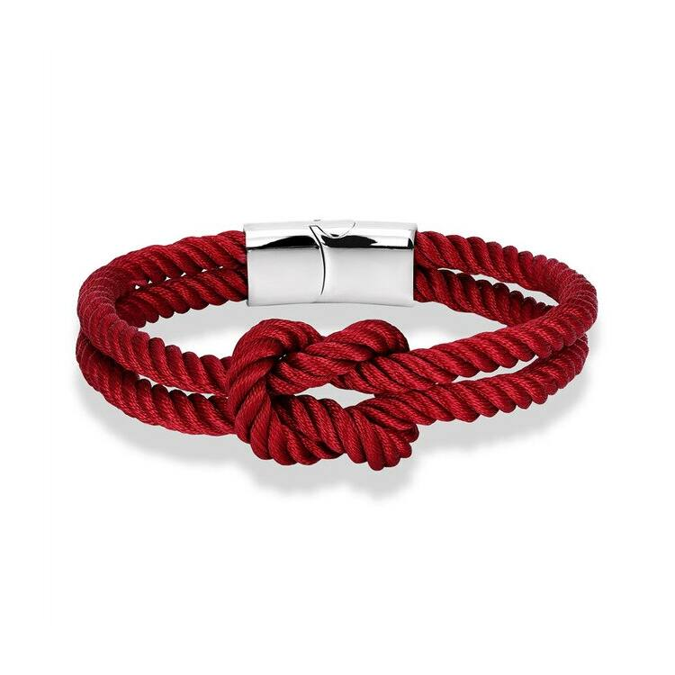 Elegáns Textil Karkötő - Piros