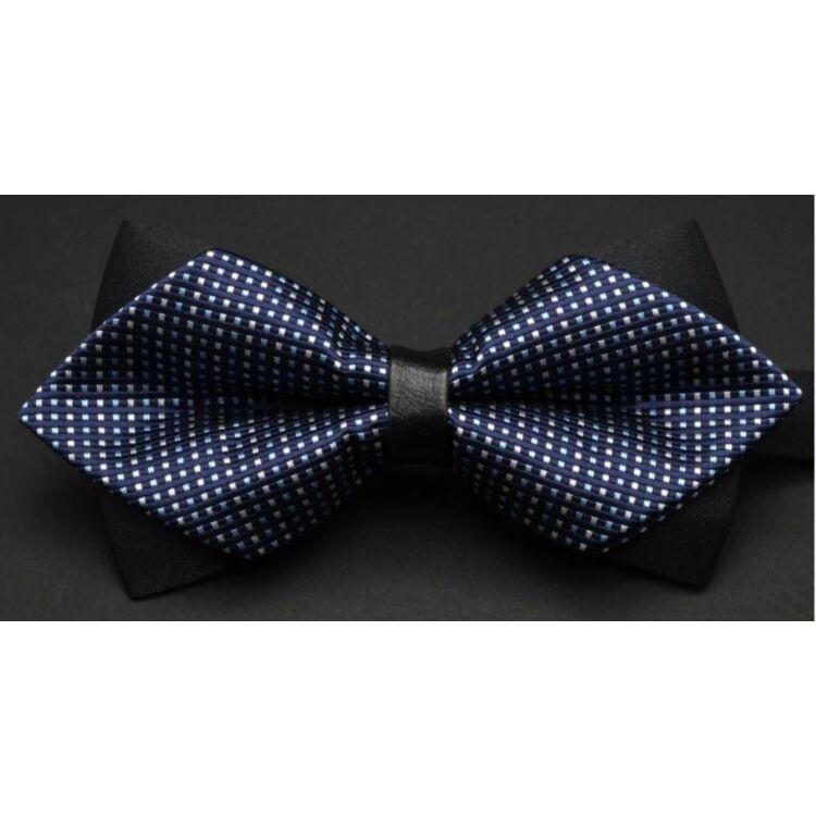 Férfi Csokornyakkendő - Fekete - Kék